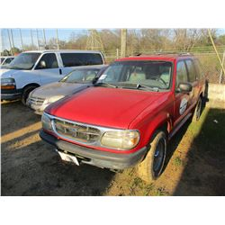 1998 FORD EXPLORER VIN/SN:1FMZU34E7WUD00392 - 4X4, V6 GAS ENGINE, A/T, ODOMETER READING 194,592 MILE
