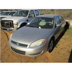 2008 CHEVROLET IMPALA, VIN/SN:2G1WB55K681268653 - V6 GAS ENGINE, A/T, ODOMETER READING 207,156 MILES