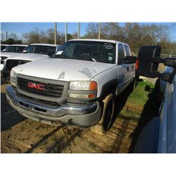 2006 GMC 2500 HD PICK UP, VIN/SN:1GTHC23U56F270948 - CREW CAB, V8 GAS NGINE, A/T, ODOMETER READING 2