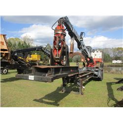 PRENTICE 210E LOG LOADER, VIN/SN:717382 - JOHN DEERE ENGINE, PRENTICE 742 GRAPPLE, MTD ON PITTS TRAI