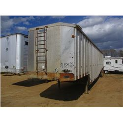 PEERLESS CHIP TRAILER, VIN/SN:1PLE04526NPA63250 - 45' FULL SWING GATE, TARP, 11R22.5 TIRES