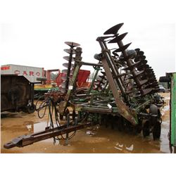 JOHN DEERE T0331 DISC HARROW, - W/BUSTER BARS