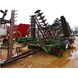 JOHN DEERE T0230 DISC HARROW, - W/BUSTER BARS
