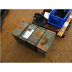 (4) MILITARY AMMO BOXES