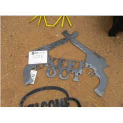 "METAL ""KEEP OUT"" SIGN"