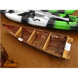 WOOD CANOE WHAT-NOT CABINET