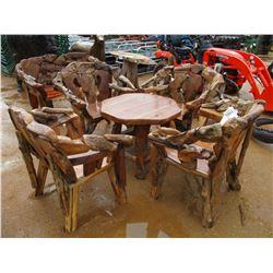 TEAK WOOD TABLE & 4 CHAIRS