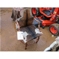COW HIDE COVERED CHAIR