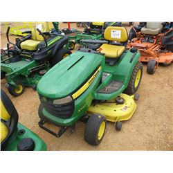 JOHN DEERE X540 RIDING MOWER, VIN/SN:020628 - METER READING 600 HOURS