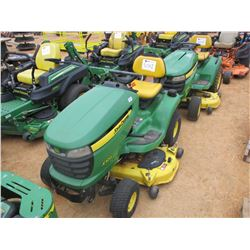 "JOHN DEERE X300 RIDING MOWER, VIN/SN:195815 - 48"", METER READING 241 HOURS"