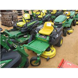"JOHN DEERE ZERO TURN MOWER, VIN/SN:026722 - 42"", METER READING 687 HOURS"