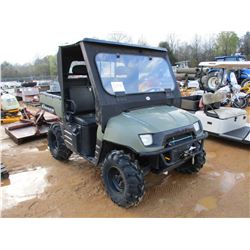 2008 POLARIS RANGER XP700 VIN/SN:4XARH68A38270373 - 4X4, GAS ENGINE, CANOPY, WINDSHIELD, DUMP BED, M