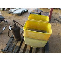 (2) DISTEL GRAIN PLANT BUCKET & GREASE GUN