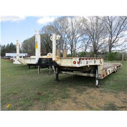 "2001 PITTS LB-50-35 LOWBOY TRAILER, VIN/SN:1PELB50321P010656 - TRI-AXLE, 50' LENGTH, 120"" WIDE, HYD"