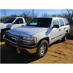 2005 CHEVROLET SUBURBAN VIN/SN:3GNFK16ZX5G280973 - V8 GAS ENGINE, A/T, ODOMETER READING 116,656 MILE
