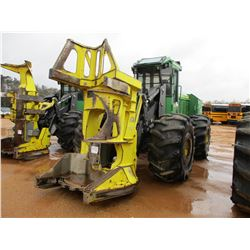 JOHN DEERE 843K FELLER BUNCHER, VIN/SN:661078 - JD FD55 SAW HEAD, ECAB W/AIR, 28L-26 TIRES, METER RE