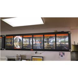 Wall-Mount Light-Up Menu Boards & Display System - 6 Panel System