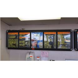 Wall-Mount Light-Up Menu Boards & Display System - 5 Panel System
