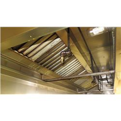 "Stainless Steel Commercial Kitchen Exhaust Hood w/6 Sprinklers (Approx. 166""Length, 23""Height, 46"" D"
