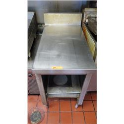 "Stainless Prep Table (20""W X 36"" D X 34"" Surface Height)"