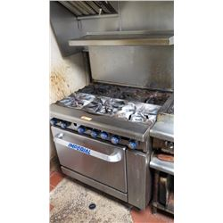 "Imperial 6-Burner Stainless Steel Commercial Gas Range (36"" W X 32"" D)"