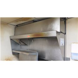"Stainless Steel Commercial Kitchen Exhaust Hood w/4 Sprinkler Heads (Approx.  6' Length, 41""Height,"
