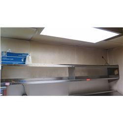 "2-Tier Stainless Steel Wall Shelving 117"" X 14"""