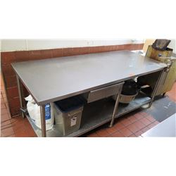 "Stainless Steel Prep Table with Undershelf - 80"" X 32"" X 34"" H"