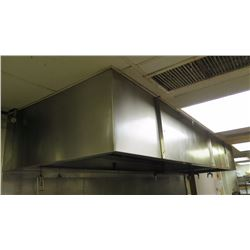 "Stainless Steel Commercial Kitchen Exhaust Hood w/6 Sprinklers (Approx. 14' Length, 23""Height, 46"" D"
