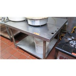 "Stainless Steel Stand/Table with Undershelf (39""W X 32"" D X 25"" floor to surface)"