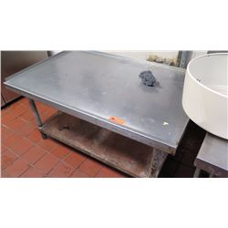 "Stainless Steel Stand/Table (Raised Edge) with Undershelf (30""W X 40.5"" D X 24"" floor to surface)"
