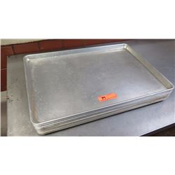 "Qty 8 Aluminum Sheet Pans - 18""X26"