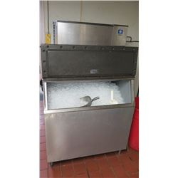 "Manitowac SY0605W Ice Machine with 560-lb Capacity Manitowac C-730S Ice Bin 42"" w/Lift Up Door"