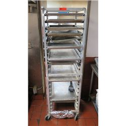 Rolling Sheet Pan Rack for 18X26 Pans - Holds 20 Pans, Open Sides