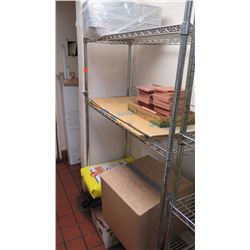"35.5"" X 18"" Wire Shelving - Has 3 Shelves"