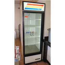True GDM-23 Glass Door Merchandiser Refrigerator - One Door, 23 Cu. Ft.