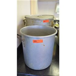 "Qty 2 Large Cooking Pots (First: 15"" diameter, 16"" tall. Second 15"" diameter, 16"" tall) - Only 1 Has"