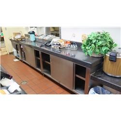 Service Countertop System w/Stainless Steel Base Structure and Undershelving