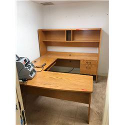 4-Piece Modular Office Desk w/Large Bookcase and Storage Shelves - just added 1/11/17 1:34pm