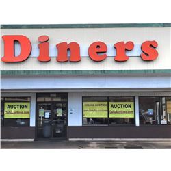 Large Iconic DINERS Sign on Front of Building - just added to auction 1/11/17 2:16pm