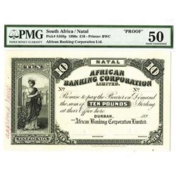 African Banking Corporation Ltd, 1890s, Unique Approval Proof Banknote