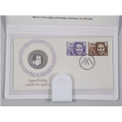 Royal Wedding Nov 1973 1st Day Cover Stamp and Coin Folio
