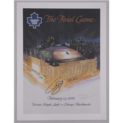 'The Final Game' Program L.E. Litho Signed by Curtis Joseph Last Game MLG