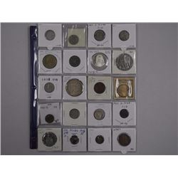 20x Mixed Canada and USA Silver Coins and Medals. Includes 1935 Canada Silver Dollar Coin (EF) (ATTN
