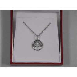 Ladies 925 Silver Tree of Life Pendant and Chain