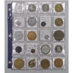 20x Mixed Collector Medallions and Tokens - Identified (ATTN: 20 Times the bid price)