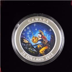 RCM 2015 - $25.00 .9999 Fine Silver Star Charts 'The Wounded Bear' Coin LE - C.O.A.