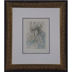 "'Estate' 'Salvador Dali' Litho. Title: Unknown. Image 9x12"" Gallery Frame: 20x23"""