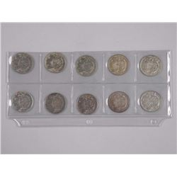 10x Canada Silver 50 Cent Coins with Mixed Dates(ATTN: 10 Times the bid price)