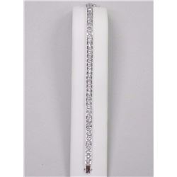 Ladies Custom Bracelet - 39 Princess Cut Clear Swarovski Elements = 30.00cts. SRRV: $650.00